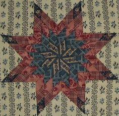 """Virginia  http://passionpatchwork.wordpress.com  block in """"1865, passion sampler"""" quilt"""
