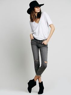Free People Destroyed Ankle Skinny, $78.00