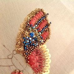 Beading a butterfly