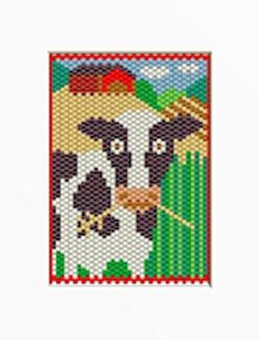 BESSIE THE COW PONY BEAD BANNER PATTERN #CherysCountryTimeCrafts