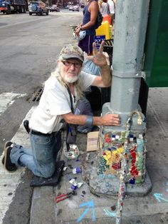 Hey! Will be out on the Trail along St. Mark's Place all week. Come say hello. ———————- Like Jim on Facebook, follow him on Pinterest, Google+, and Twitter @MosaicManNYC Check out The Official Mosaic Man Collection on Etsy and CafePress for belt...