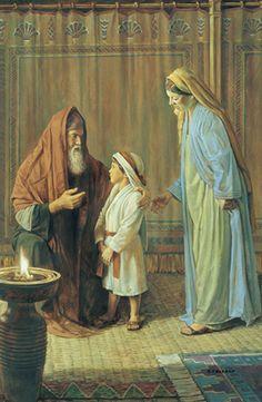 1 Samuel 1:25-28  Y matando el becerro, trajeron el niño a Elí. Y ella dijo: ¡Oh, señor mío! Vive tu alma, señor mío, yo soy aquella mujer que estuvo aquí junto a ti orando a Jehová. Por este niño oraba, y Jehová me dio lo que le pedí. Yo, pues, lo dedico también a Jehová; todos los días que viva, será de Jehová. Y adoró allí a Jehová. ♔