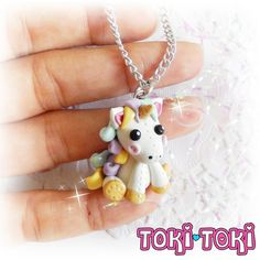 ♥ This listing is for one(1) Unicorn plushie pendant. It is fully designed and…