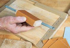 Sandpaper Measuring Jig and block