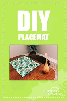 Get crafty this St. Patrick's Day and DIY your own placemat set!  - Springs Creative shamrock pattern by Susan Winget  - #placemats#placemat#shamrock#fabric#sewing#stpatricksday#easysewingproject