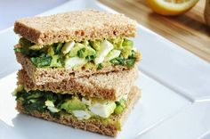 For afternoon tea. Avocado Egg Salad Sandwich… perfect for Afternoon Tea Egg Salad Sandwiches, Finger Sandwiches, Healthy Sandwiches, Sandwich Recipes, Tea Recipes, Whole Food Recipes, Healthy Recipes, Healthy Meals, Lunch Recipes