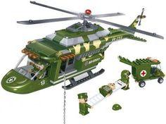 Força Tática Helicóptero Médico 263 Peças - BanBao