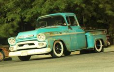 Do You Love Old Trucks and Patina?  This 1959 GMC 100 (owned by Aaron Easter) has a Camaro subframe under the Texas body. Under the hood is a 350 engine with Edelbrock RPM intake, Performer carb, Comp Thumper Cam, Dart heads, 350 transmission with 3,000 stall converter, and a 8.5 10-bolt rear end with 3.90 gears. Photo by Rich Cribaro.