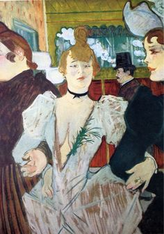 Henri de Toulouse-Lautrec - La Goulue arriving at the Moulin Rouge with Two Women, 1892. Museum of Modern Art, New York.