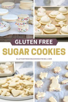 Make these gluten free cutout sugar cookies for Thanksgiving, Christmas, Easter or any holiday. Super easy to make and deliciously yummy, they hold their shape very well for cookie cutters. Plus I'll share my homemade icing recipe, for making cookie Dairy Free Sugar Cookies, Soft Frosted Sugar Cookies, Gluten Free Christmas Cookies, Dessert Sans Gluten, Gluten Free Sugar Cookies, Gluten Free Sweets, Sugar Cookies Recipe, Icing Recipe, Cookies Soft