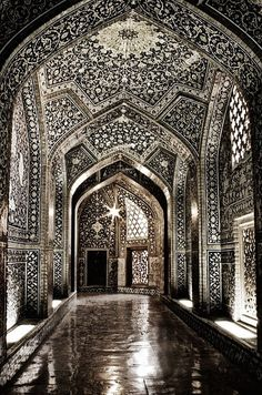 inside a very beautiful mosque
