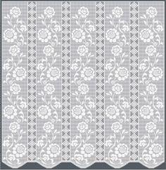 Filet Crochet Pattern - Curtain