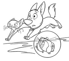 bolt runs coloring pages for kids printable free