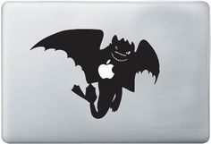 GORGEOUS! EPIC! EYE-CATCHING! ICONIC!  My abnormal adoration for Chris Sanders' cartoons has me hyperventilating hyperbole right now.  I mean srsly, a jet black night fury against a gunmetal gray laptop? That's pure, cartoon class.  Toothless decal - $12