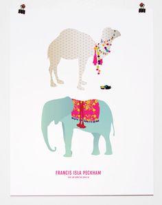 Customized Children's Art Prints from Pancake & Franks - great gift for newborns nursery.