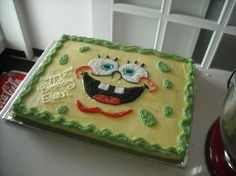 Spongebob Cake for Gregory's birthday