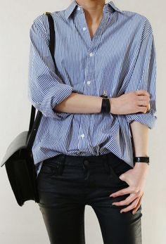 25 Ways To Wear A Striped Button-Down Shirt