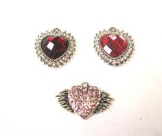 Heart Crystal Charms. Contact us for details or to order at alice@atgtexas.com