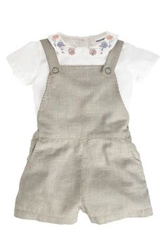 Grey Playsuit And Blouse (3mths-6yrs)