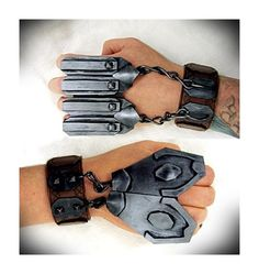 Dwalin Hand Armour - Hobbit Dwarf Cosplay Costume Accessories Wrist Cuffs Wristbands Gauntlets Gloves Knuckledusters Armor