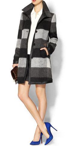 Pim + Larkin University Plaid Coat