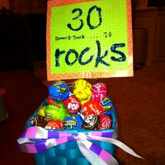 Use pop rocks instead! 30 Birthday, 30th Birthday Parties, Birthday Celebration, Birthday Ideas, Birthday Painting, 30th Party, 30 Rock, Turning 30, Milestone Birthdays
