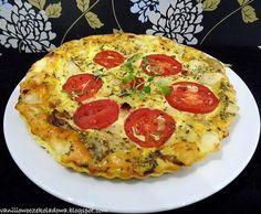 FRITATA rodem z piekła (Pomidor,chili,bekon,cebula,ser)
