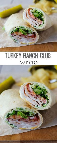 Turkey Ranch Club Wraps are one of my favorite easy lunch recipes! Perfect for school lunches or lunch on the go! Turkey Ranch Club Wraps are one of my favorite easy lunch recipes! Perfect for school lunches or lunch on the go! Lunch Snacks, Snacks For School, Lunch Box, Diet Snacks, Lunch Meals, Food For Lunch, Meals To Go, Kids School Lunch Ideas, Kid Lunches