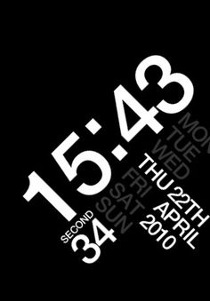 Typoclock Mobile Ui Design Ux Graphic Typography User Interface