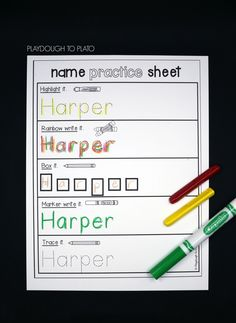 EDITABLE Name Practice Sheets                                                                                                                                                                                 More