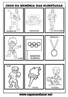 Atividade lúdica: jogo da memória das Olimpíadas para imprimir e brincar! - ESPAÇO EDUCAR