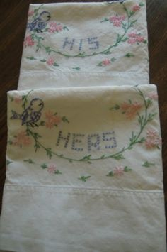 Vintage Pillowcases by whimsy52 on Etsy, $19.00