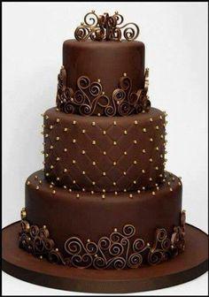 Pastel de chocolate y diseños