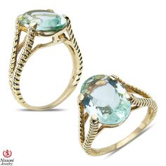 Etsy NissoniJewelry presents - Green Amethyst Fashion Ring 10k Yellow Gold    Model Number:CG-5036GAMY0    https://www.etsy.com/ru/listing/275602604/green-amethyst-fashion-ring-10k-yellow