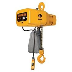 Chain Hoist, 1/8 Ton, Lift 10 ft., 55 fpm by Harrington. $2474.76. NER Chain HoistsElectric Chain HoistsDesigned to handle heavy- and severe-duty applications. Single-speed duty cycle is 60 min. Variable-speed duty cycle is 30/10 min. with under-the-cover variable frequency drive with 2-step infinitely variable control and speed ratio of 6:1, adjustable up to 12:1. Include smart brake technology. Electromagnetic brake Grade 80 nickel-plated steel chain Meet ASME B30.16H4-rated...