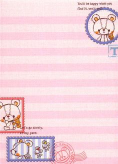 kawaii toy animal bear Memo Pad 3
