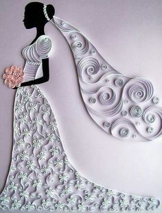 #papercraft #quilled #wedding #layout