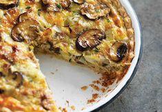 Quiche forestière aux poireaux léger,recette d'une délicieuse quiche légère aux champignons et aux poireaux, facile et simple à réaliser avec une pâte brisée légère.