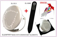 White heart also have a chance to become a gift! ELENPIPE® made with SWAROVSKI® ELEMENTS