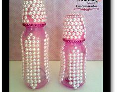 Kit Mamadeiras Pink com Perolas