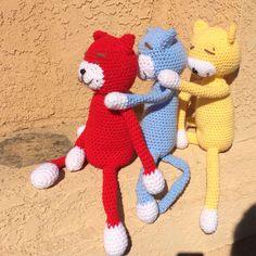 Crochet dolls. Cats. Amineko.