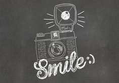 smile - chalkboard