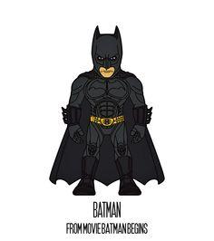 BATMAN  http://herosandvillains.tumblr.com/post/12234696249 by TM
