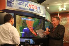 Dr. Neil Frank in the KHOU 11 Weather Center