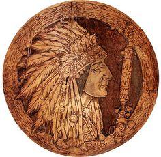 Pyrography plaque Wood Burning Crafts, Wood Crafts, Pyrography Patterns, Native American Artwork, Fluxus, Driftwood Art, Wooden Art, Wildlife Art, Indian Art