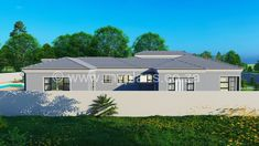 4 Bedroom House Plan - My Building Plans South Africa My House Plans, 4 Bedroom House Plans, My Building, Building Plans, Architect Fees, Construction Drawings, Open Plan, Cladding, Windows And Doors