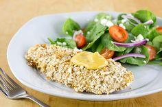 Recipe: Skinny Honey Mustard Pretzel Chicken