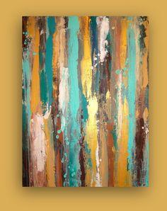 Large Acrylic Abstract Original Painting Title by OraBirenbaumArt, $375.00