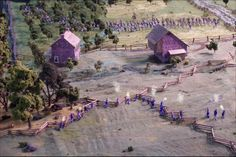 Scott Mingus' blog: http://wargamingforums.com/scottmingus shares some photos of an incredible Battle of Gettysburg diorama. Check out this photo showing the fighting at Rose Farm.