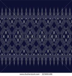Geometric Ethnic pattern design for background or wallpaper. M Design Logo, Thai Design, Mens Designer Shirts, Ethnic Patterns, All Craft, Background Patterns, Pattern Wallpaper, Clothing Patterns, Embroidery Stitches